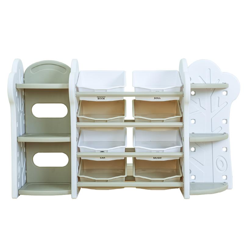 儿童玩具收纳架宝宝绘本书架整理箱幼儿园塑料储物柜子置物架多层