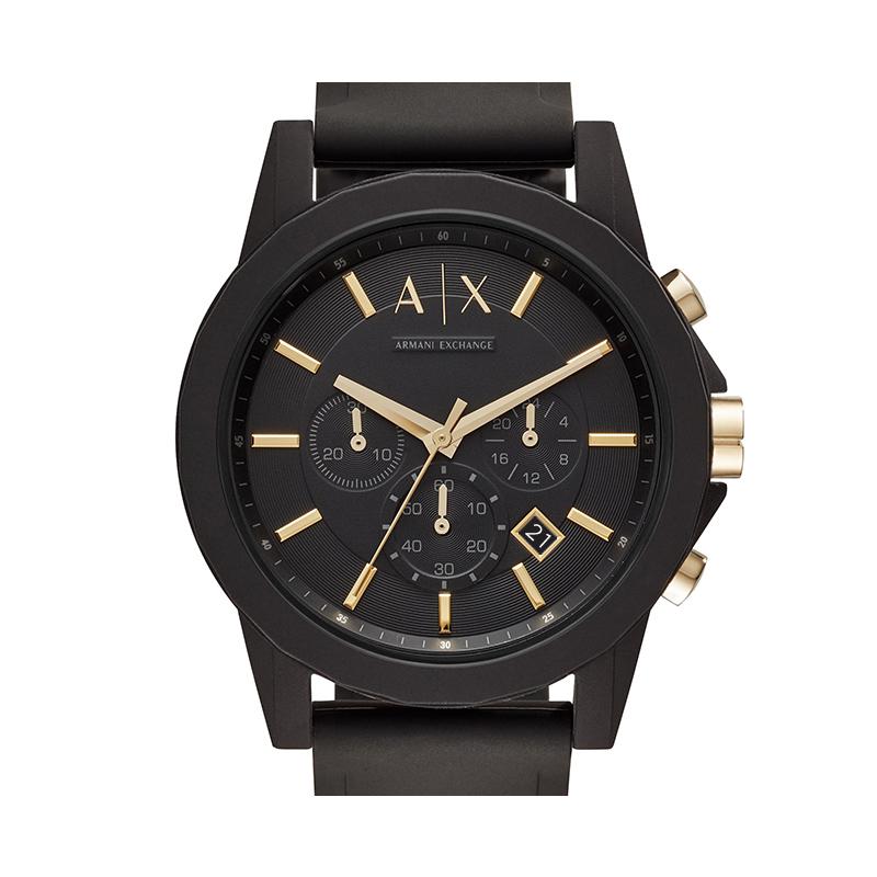 Armani阿玛尼官方旗舰店男士手表小黑盒黑武士礼盒AX7105