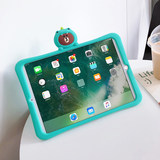 2018 new Apple ipad air2 mini5 silicone protective sleeve shell pro9.7 inch tablet ipadair3 new version of the lovely 2019 mini 4 Creative pad net 1 red fifth generation ipd