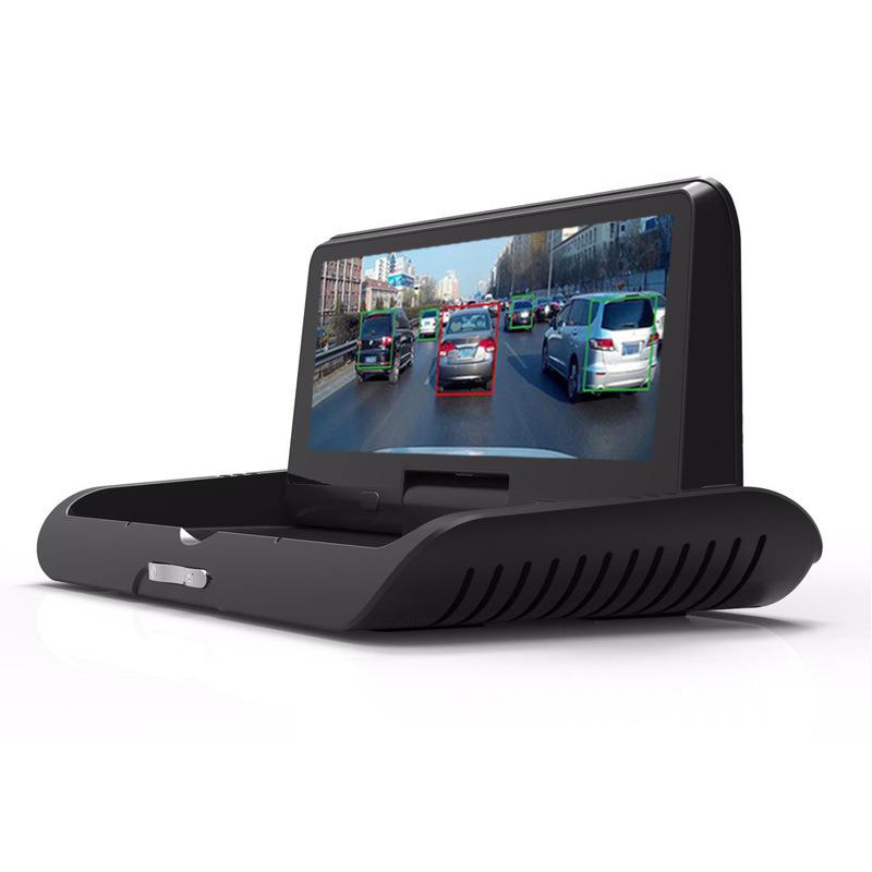 远程停车监控 ADAS 导航仪行车记录仪双镜头电子狗 4G 折叠中控台 T98
