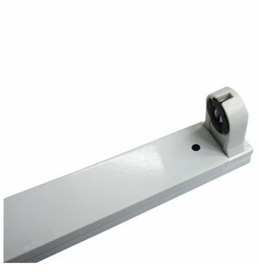 T8LED灯管支架灯架双端日光灯座双支带罩单双管配件1.2米0.9m0.6m