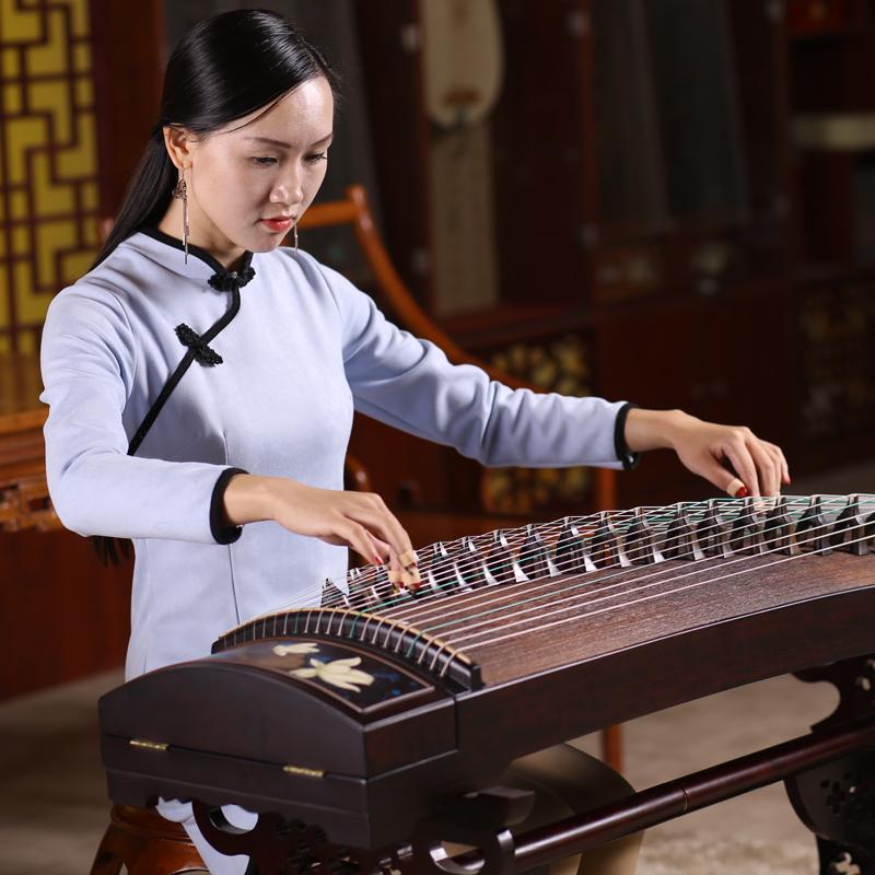 祥音古筝紫檀木实木初学者入门专业考级演奏级儿童大人乐器古筝琴