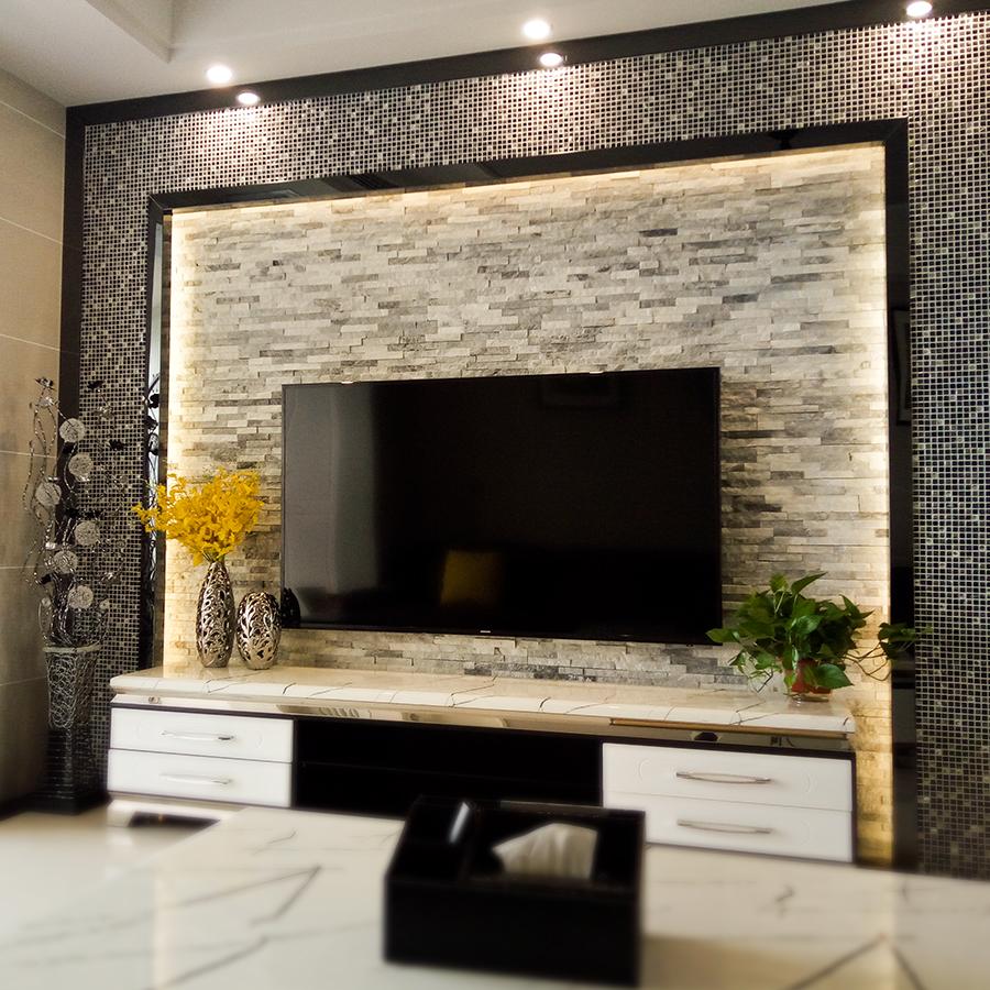 天然文化石灰色白色室内墙砖客厅电视背景墙阳台复古文化砖外墙砖