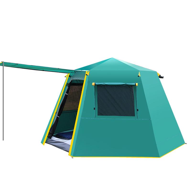 人野营铝杆 6 人 8 5 人加厚防雨露营速开 4 3 户外帐篷全自动