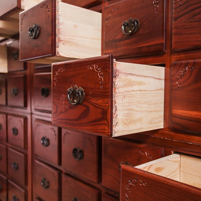 米 2.3 0.6 1.2 高品质木质医要柜 高档实木中要柜华北梨木中草要柜