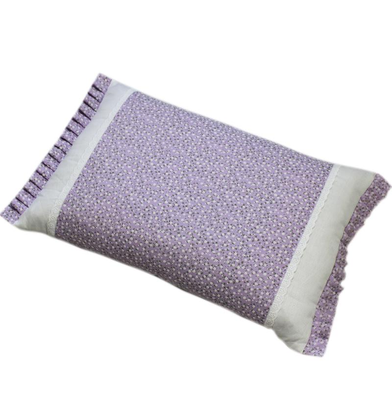 韩式田园风碎花加大扁枕纯棉小米壳颈椎全棉布抱枕荞麦壳成人枕头