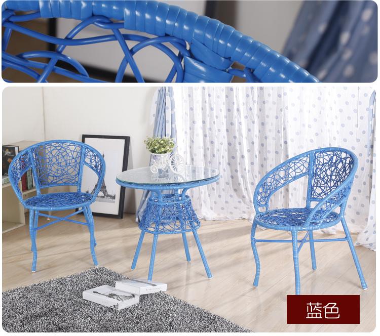 阳台桌椅藤椅茶几三件套休闲椅五卧室客厅庭院户外家具组合藤椅子
