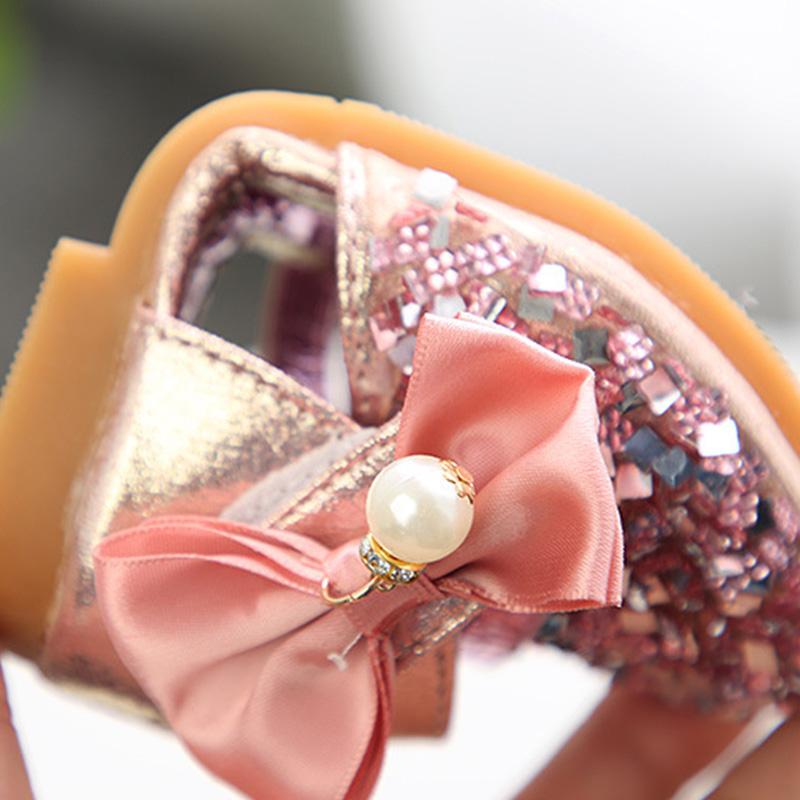六一儿童节演出跳舞鞋女童表演亮片公主鞋春夏韩版儿童透气凉单鞋