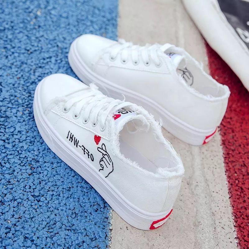 夏季款小学生女童鞋中大童运动板鞋跑步休闲鞋透气百搭帆布鞋子女