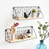 Ins Nordic style creative minimalist wall shelf one word shelf home wall hanging decorative wall partition