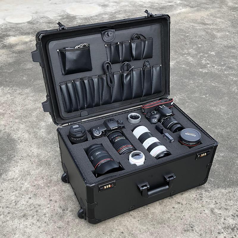 多功能密码摄影器材道具拉杆箱行李箱包影视单反相机收纳旅行箱子