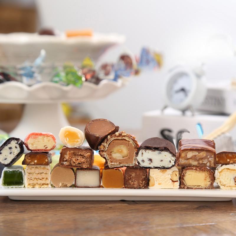 俄罗斯进口!混合巧克力糖果500g