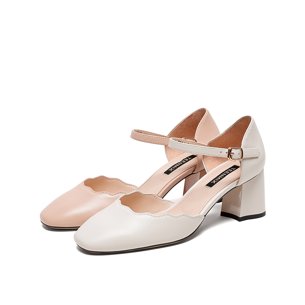 CHT33BK0 天美意夏商场同款简约甜美女皮凉鞋 清仓特卖