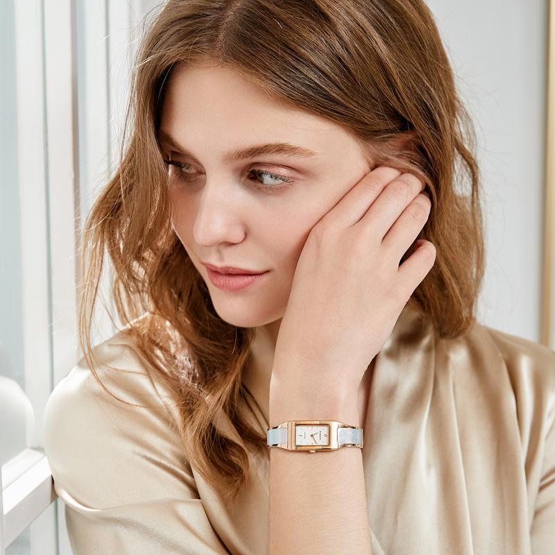 罗西尼手表女时尚典美女表正品牌小方表星空表盘手镯石英表119432