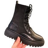2019 new autumn and winter wild thin shoes increased within Martin boots single British style boots plus velvet models fall