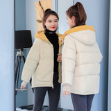 2019 new Korean female short casual cotton jacket was thin thick down padded bread served students