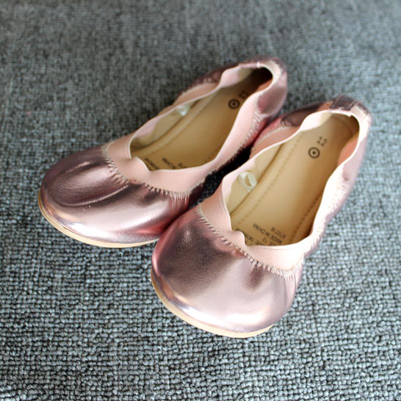 2017春夏季女童豆豆鞋玫瑰金金公主鞋平底蛋卷鞋出口芭蕾百搭瓢鞋
