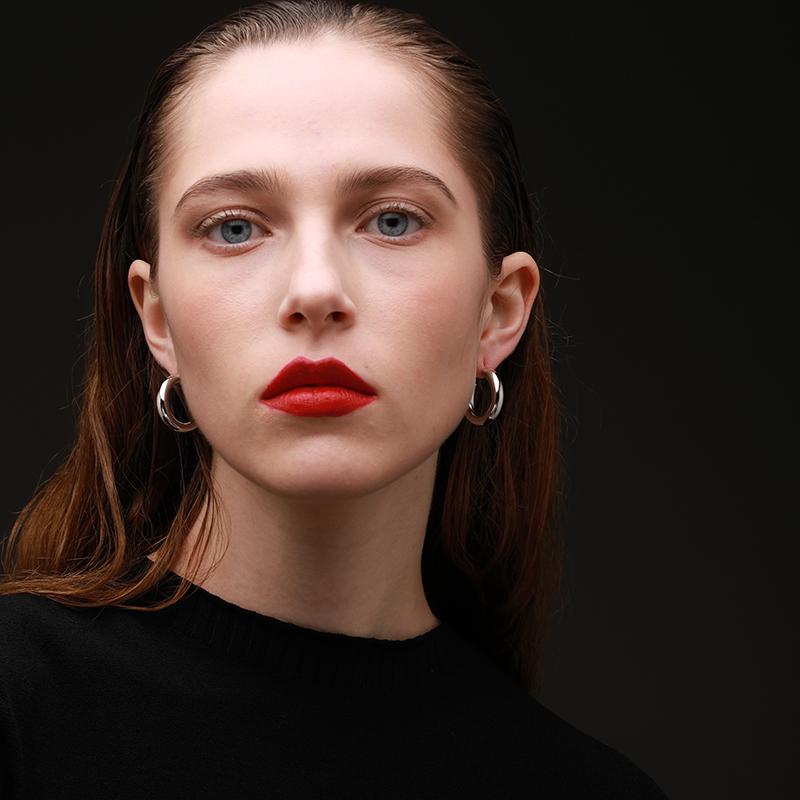 年新款 2020 银女耳饰 925 圆圈款耳环英国小众设计 Archibald 金晨同款