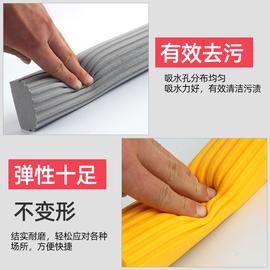 妙洁拖把头对折式替换装宽口通用海绵胶棉拖把头家用墩布头正品