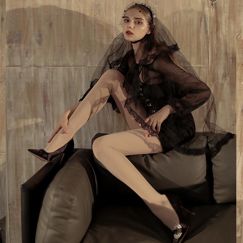 妖精可可光腿神器官方旗舰正品秋冬薄款加绒高腰收腹打底裤透透袜