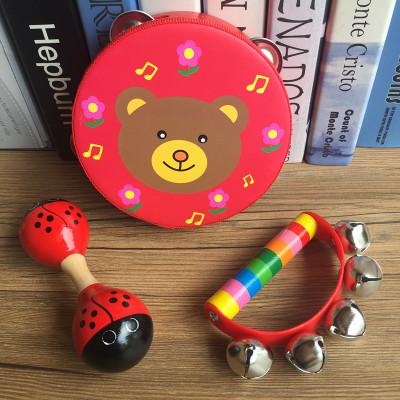 奥尔夫打击乐器手铃鼓婴幼儿童手拍鼓摇鼓手摇铃乐器早教玩具包邮