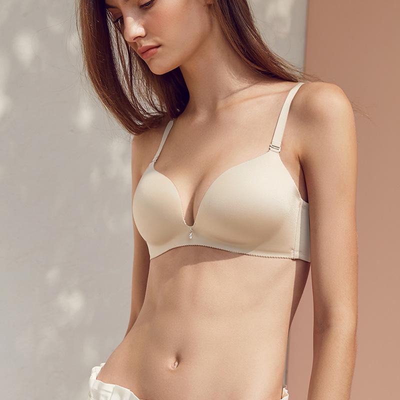 曼妮芬 件装无钢圈文胸舒适无痕舒适美背调整侧收副乳女士内衣  2