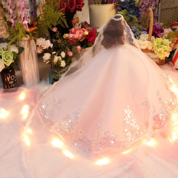 会说话的婚纱娃娃礼盒大厘米仿真洋娃娃玩具女孩公主儿童生日礼物