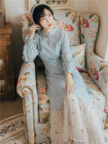 Young girl retro improved cheongsam dress fairy paragraph Slim thin long-sleeved dress Autumn 2019 new