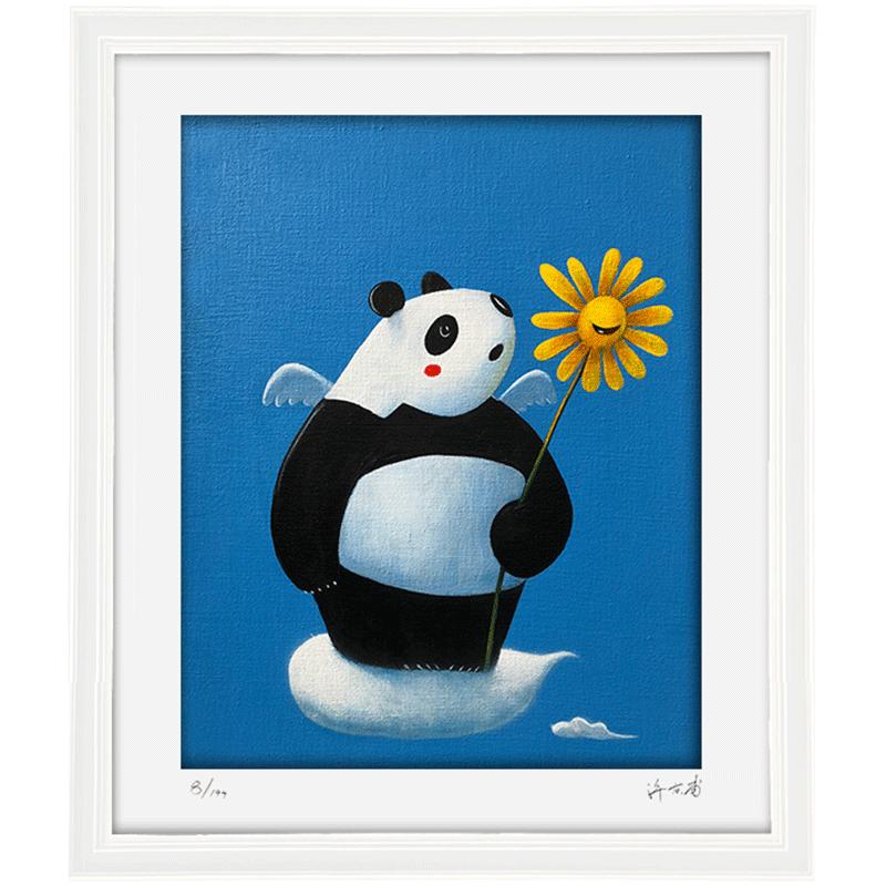 阿斯蒙迪艺术品版画装饰画艺术版画限量收藏许京甫熊猫创意礼品
