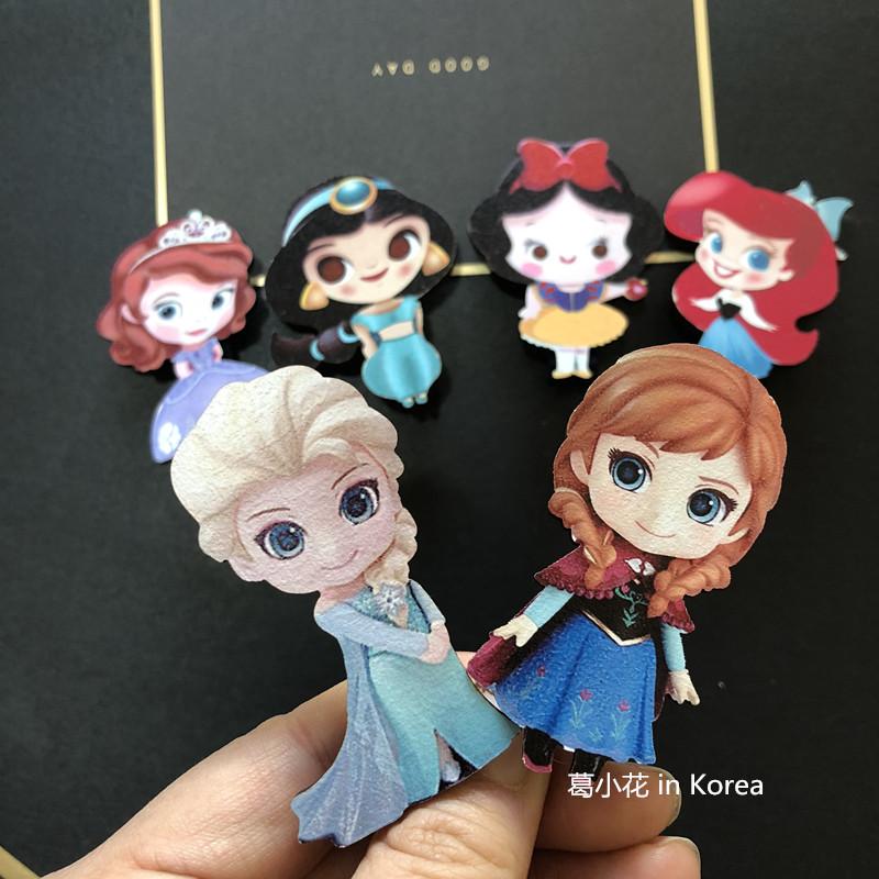 韓國進口公主髮夾正品韓國進口木質公主髮夾邊夾劉海夾小女孩最愛