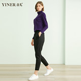 YINER sound simple child outlets 2019 new winter plus thick velvet pencil pants white duck down pants