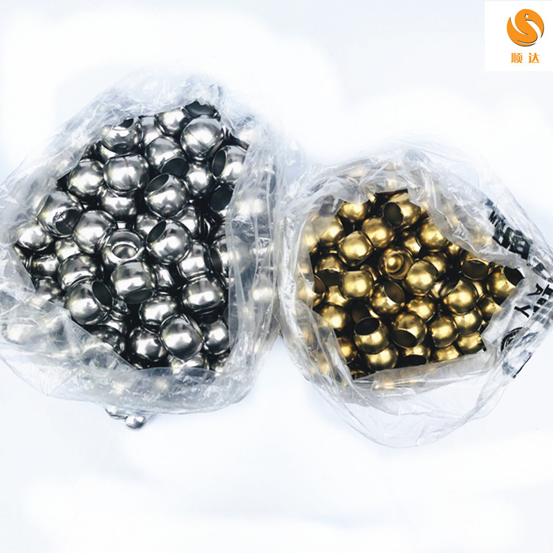 不锈钢穿孔球双通球201不锈钢水涨球 门窗花装饰球珠钢球冲孔圆球