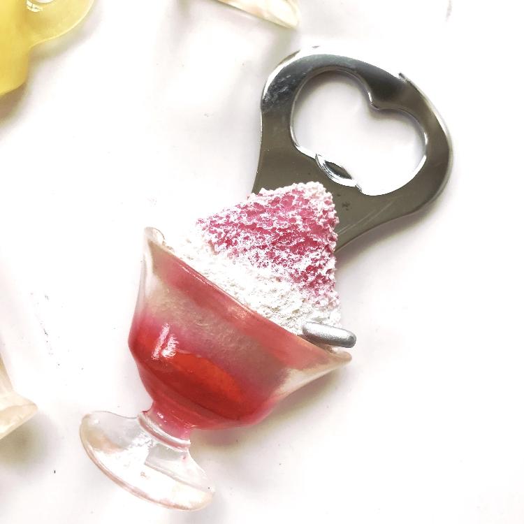 磁小蟹立体精致冰箱贴开瓶器柠檬草莓仿真食物水果遮挡侧面磁贴