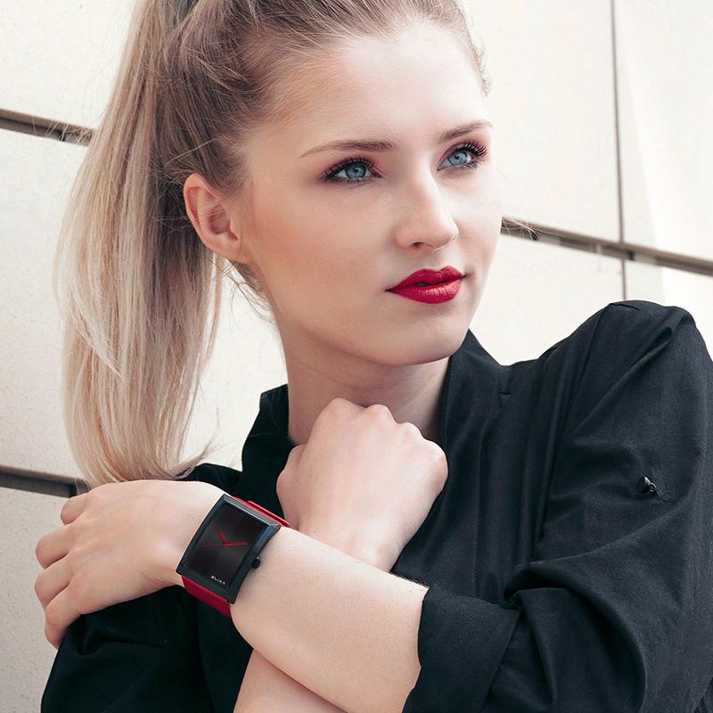 女表名牌简约大气 方形手表女款 女表名牌简约大气 dw Elixa 瑞士正品小众品牌大表盘