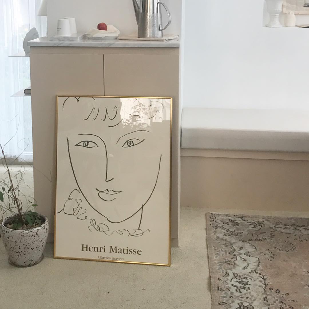ins风抽象线条装饰画 马蒂斯matiss 复古韩式咖啡厅花店民宿软装