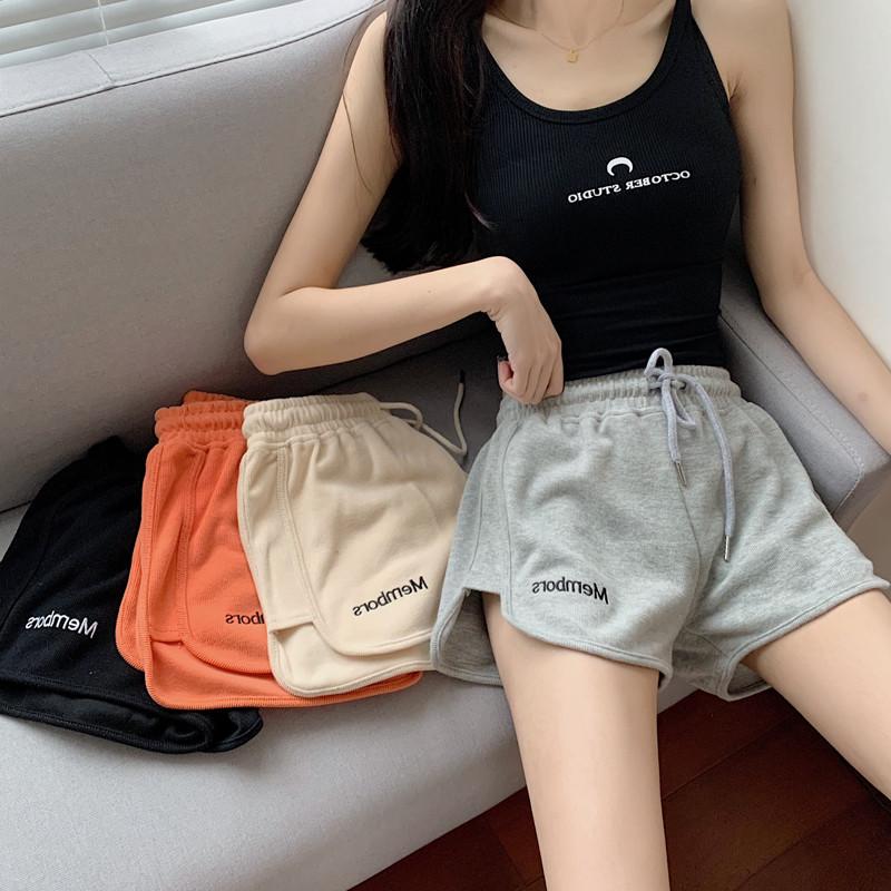运动短裤2021新款潮韩版宽松休闲休闲学学生高腰休闲裤