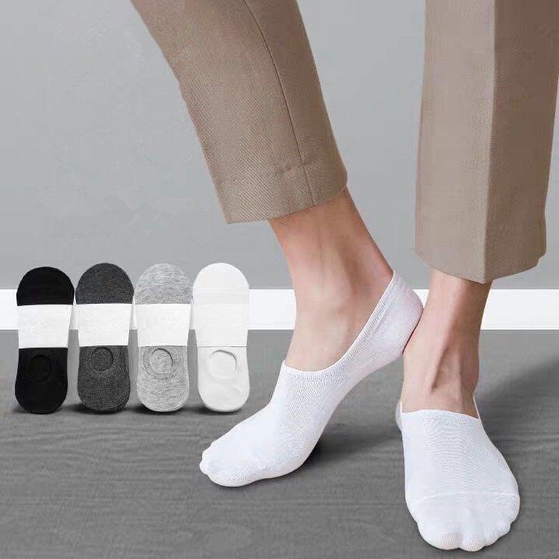 隐形袜子男士船袜浅口低帮薄款透气棉质春夏季硅胶防滑短筒防臭袜 No.3