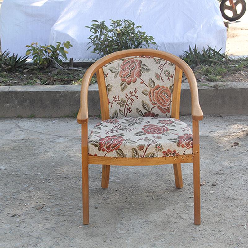 新中式实木圈椅酒店会所茶楼客厅洽谈桌椅现代简约休闲椅围椅