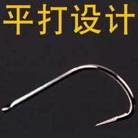 千寿不跑鱼的鱼钩无倒刺进口袋装正品渔具用品垂钓用品鱼钩50枚 (¥20)