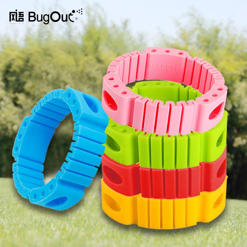 风语飞碟驱蚊手环 儿童成人防蚊手环脚环 户外防水植物防蚊圈