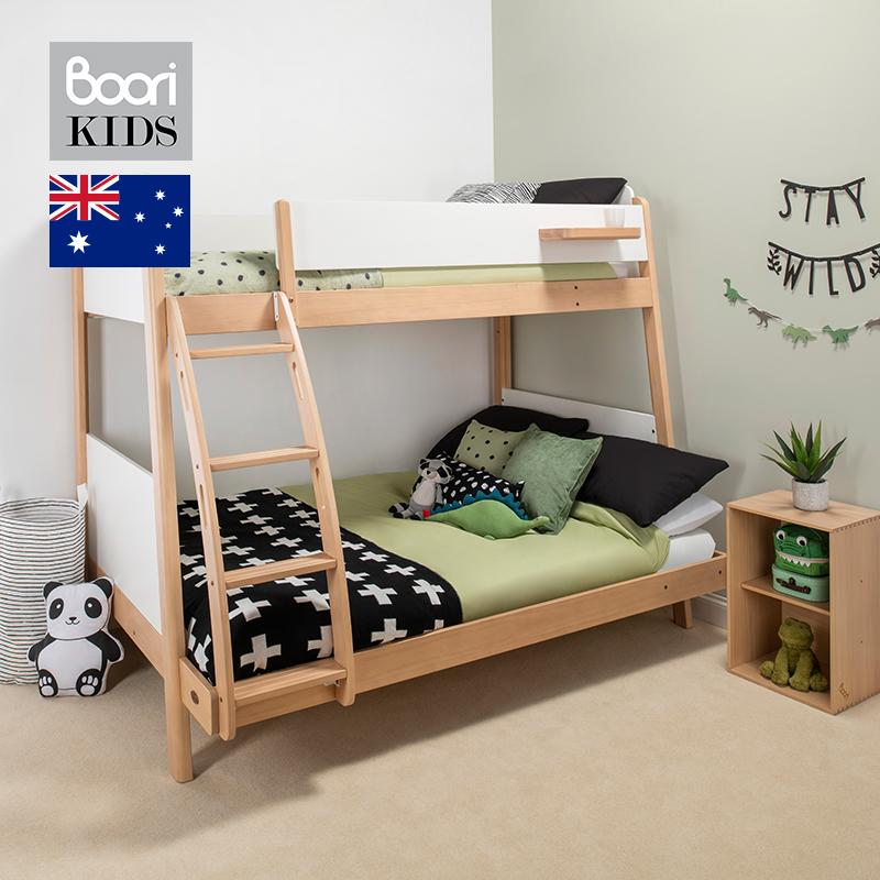Boori北欧儿童床上下子母床亲子床实木二胎床小户型高低床双层床【图3】