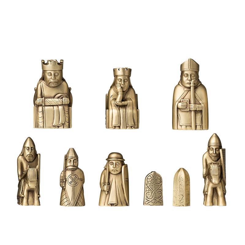 铜师傅刘易斯西洋棋铜摆件装饰创意礼物萌趣 X 大英博物馆官方大英