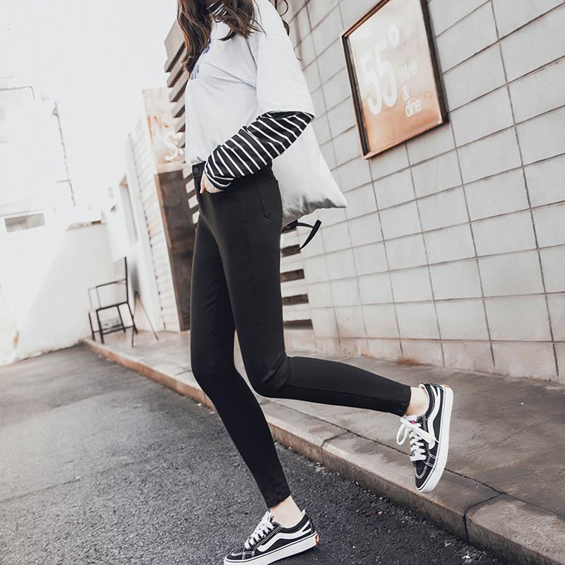 秋冬季魔术打底裤女裤外穿加绒加厚2018新款黑色小脚铅笔保暖棉裤
