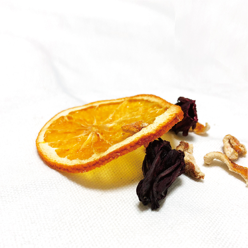 冷泡茶 手工切片茶 网红花果茶 2 包× 6 鲜橙洛神花茶一袋 柒果坊
