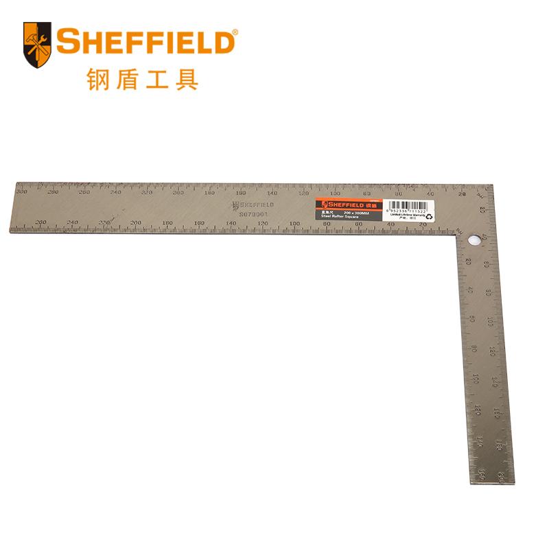 钢盾S079001直角尺子不锈钢木工角尺 600mm 双向双面激光刻度尺子