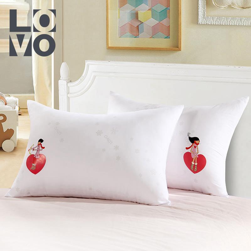 lovo羅萊生活出品枕芯婚慶結婚情侶對枕雙人枕一對/2只裝護頸枕