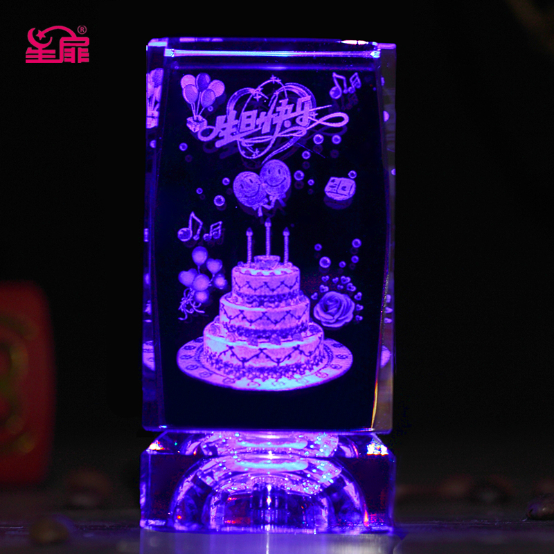 Buy 3d Engraving Luminous Ornaments Tanabata Valentine39s Day Gift Ideas Girls Birthday To Send His Girlfriend Girlfriends In Cheap Price On