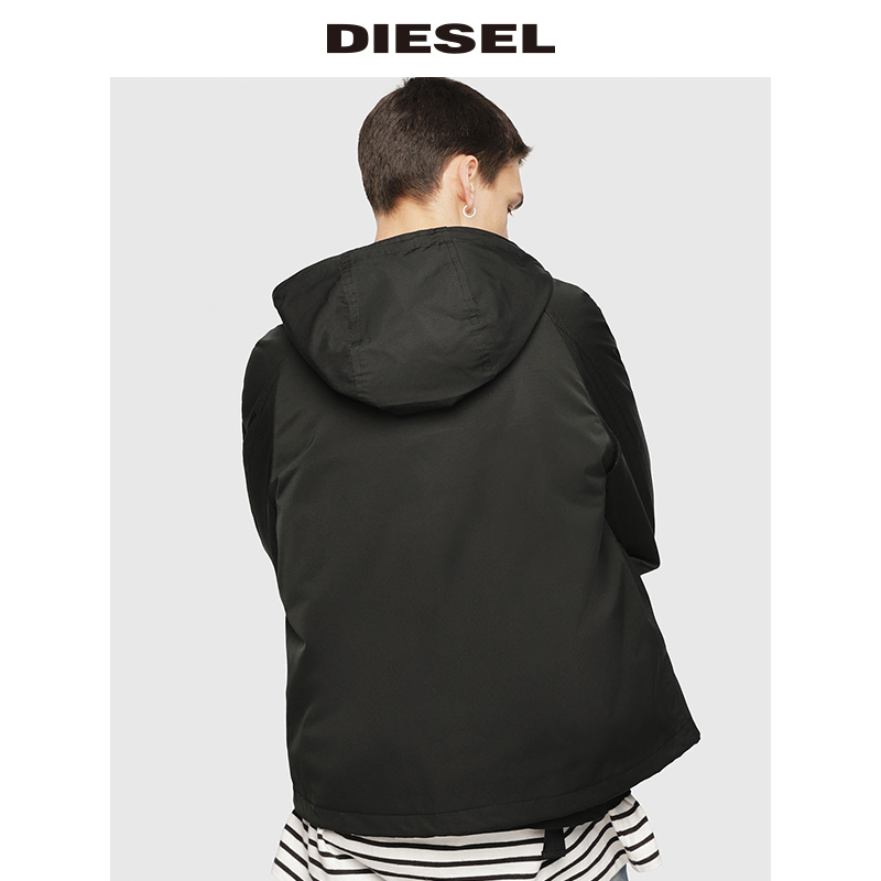 00SNTN0LATS 春夏新款男装纯色时尚连帽拉链夹克外套 Diesel2019