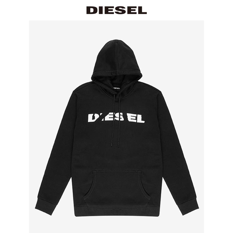 00STS4RWAPO 连帽套头卫衣宽松上衣 LOGO 男士 Diesel