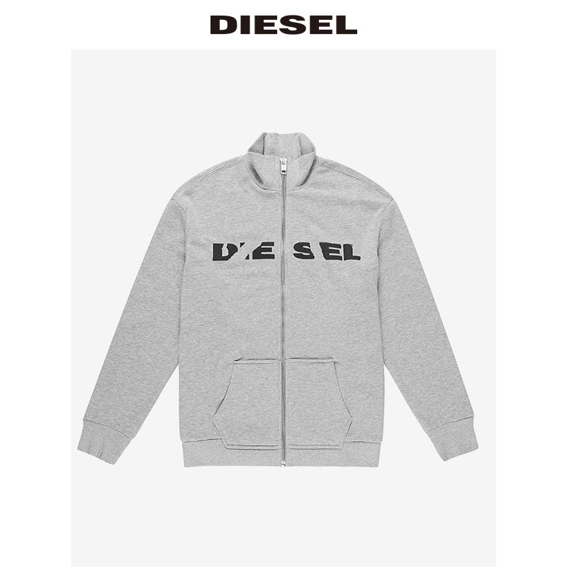 00STTJRWAPO 卫衣短外套上衣 LOGO 男士拉链休闲 Diesel
